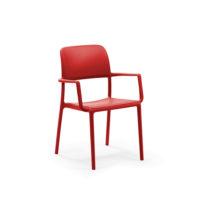 Nardi_chairs_RIVA_rosso_forma_design